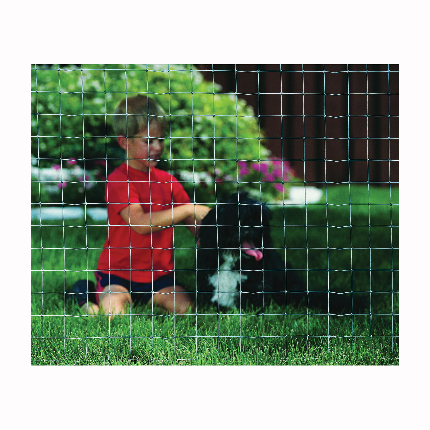 Picture of Red Brand 70742 Kennel Fence, 100 ft L, 48 in H, 2 x 2 in Mesh, 16 Gauge, Galvanized