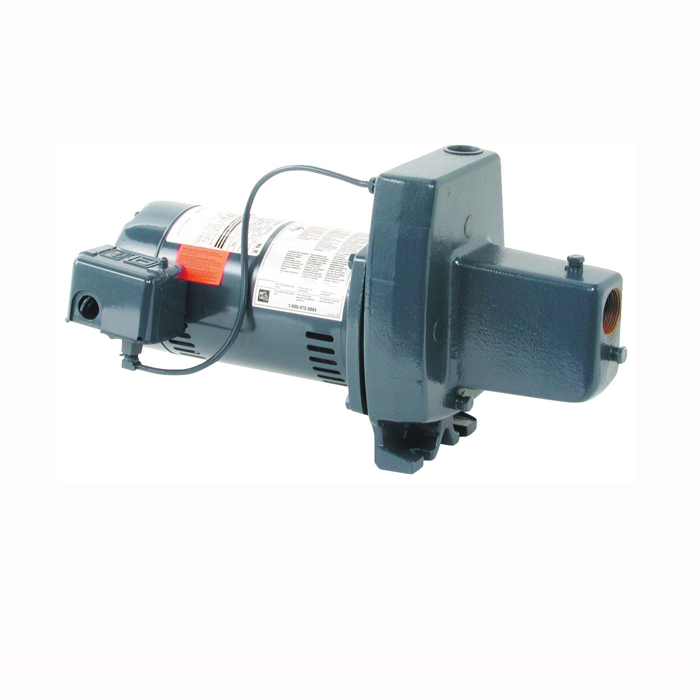 Picture of Sta-Rite FSNCH-L Jet Pump, 9.9/4.95 A, 115/230 V, 0.5 hp, 1-1/4 in Suction, 3/4 in Discharge Connection, Iron