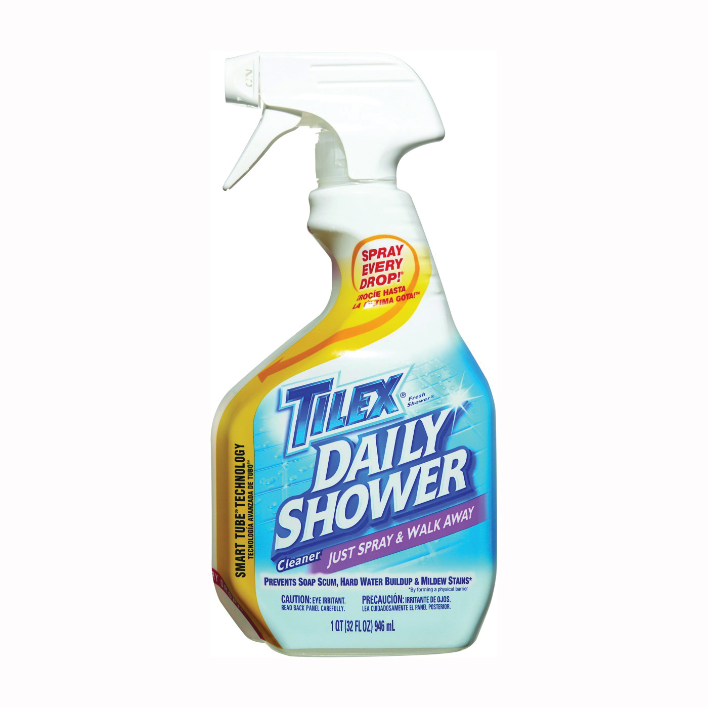 Picture of Clorox 01299 Shower Cleaner, 32 oz Package, Bottle, Liquid, Citrus, Floral, Fruity, Clear Yellow