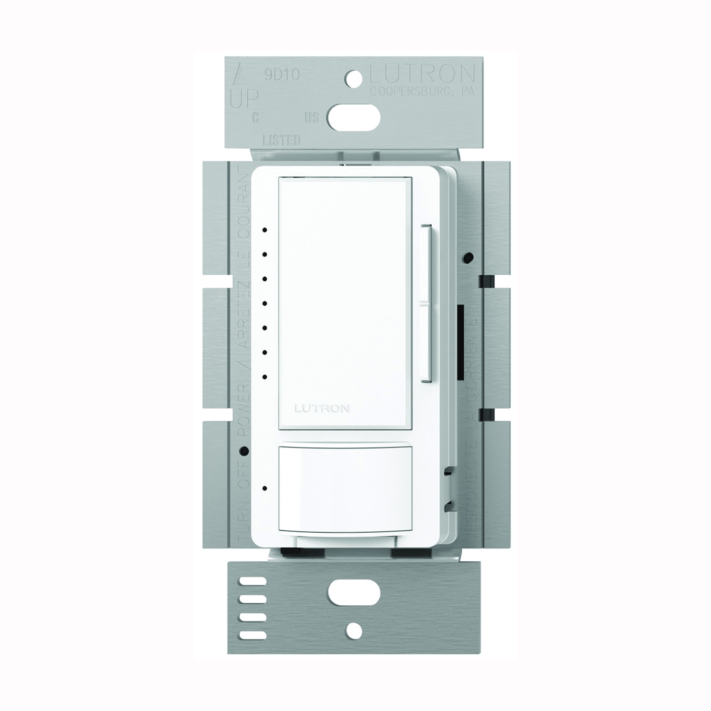 Picture of Lutron Maestro MSCL-OP153MH-WH Dimmer, 5 A, 120 V, 150 W, CFL, Halogen, Incandescent, LED Lamp, White