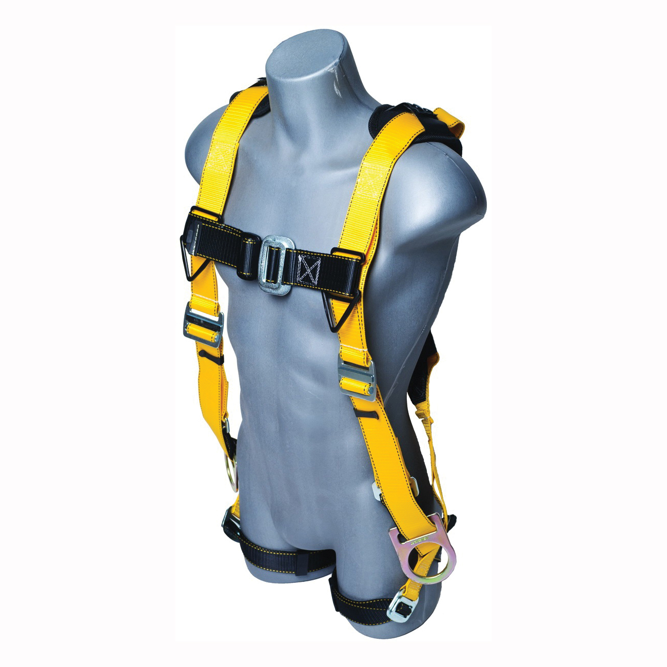 Picture of Qualcraft 11163 HUV Harness with Side D-Rings, XL/2XL, 180 to 360 lb, Yellow