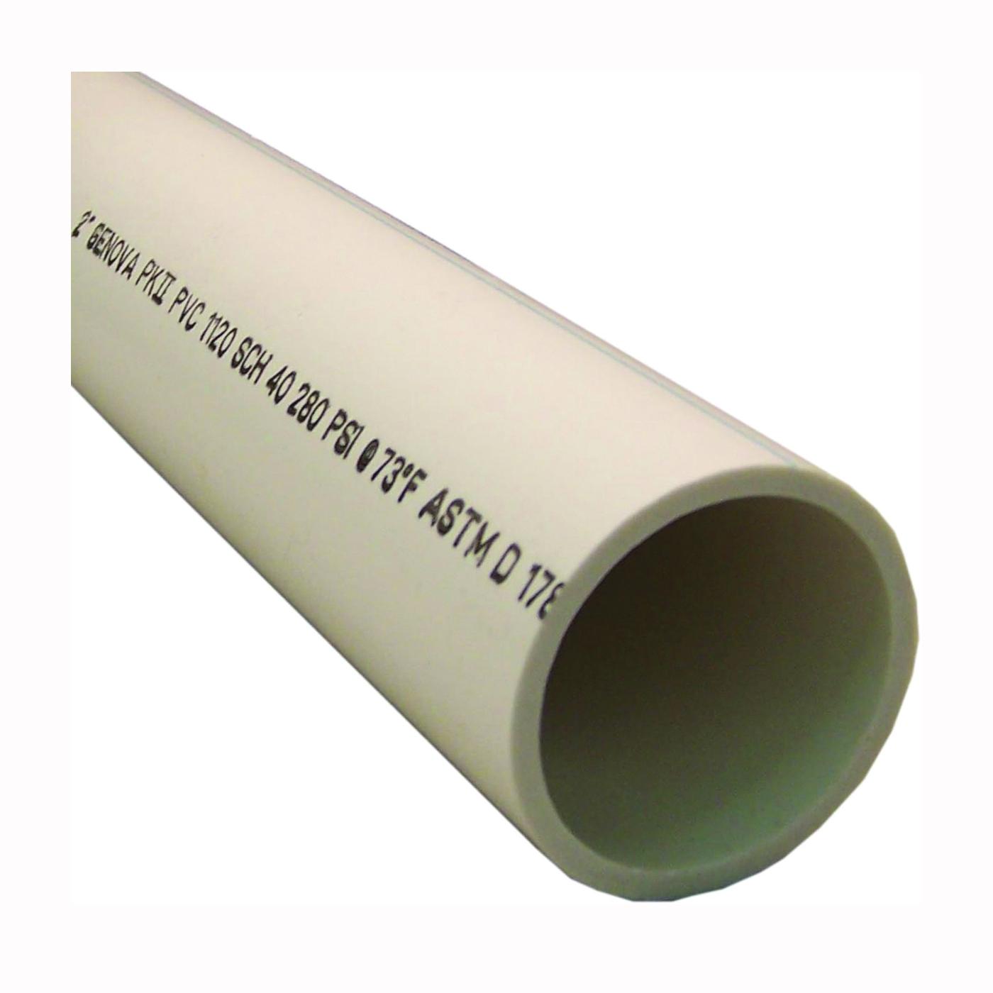 Picture of GENOVA 700212 Cut Pipe, 2 ft L, SCH 40 Schedule, White