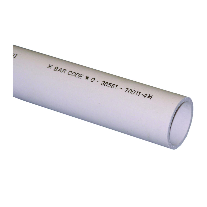 Picture of GENOVA 700112 Cut Pipe, 2 ft L, SCH 40 Schedule, White