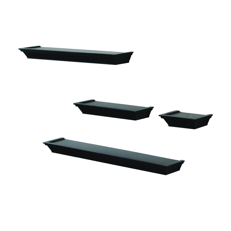 Picture of Knape & Vogt Shelf-Made 0139-BK4 Mantel Shelf Kit, 20 lb, 4-Shelf, 3-1/2 in W, Wood