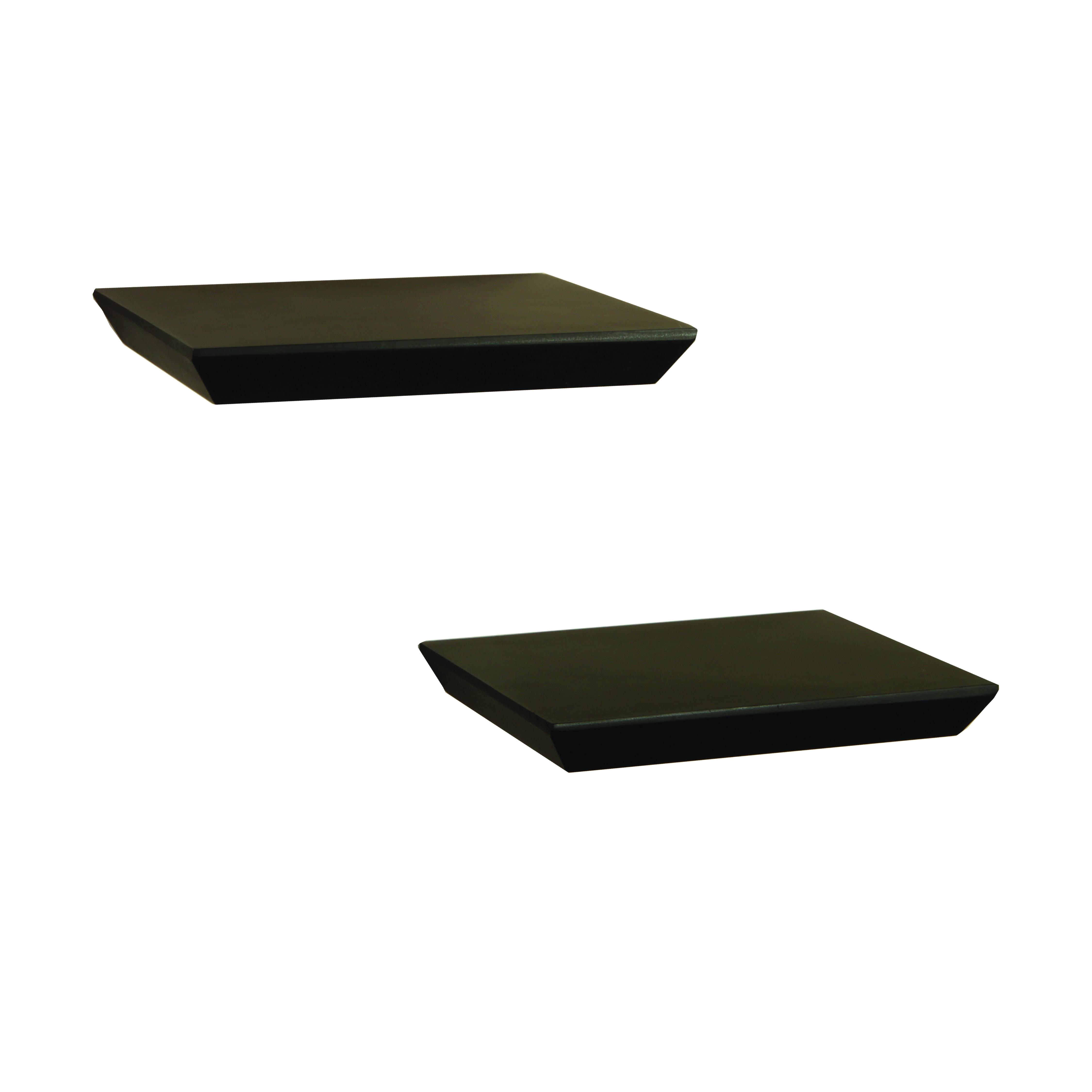 Picture of Knape & Vogt Shelf-Made 0140-2X10BK Floating Shelf, 30 lb, 2-Shelf, 8 in L, 10 in W, Wood