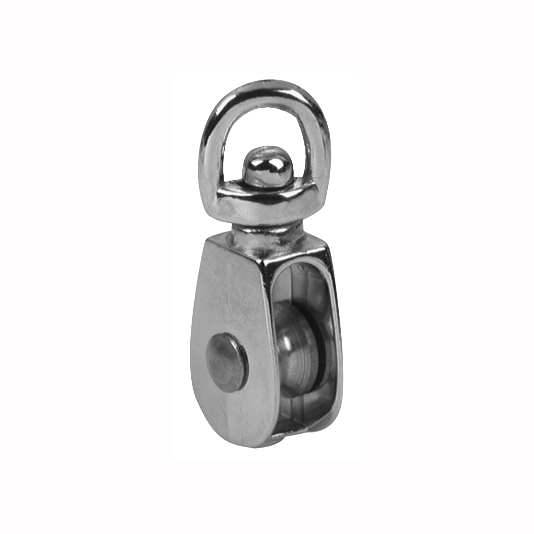 Picture of BARON 0173ZD-3/4 Single Rope Pulley, 3/16 in Rope, 3/4 in Sheave, Cadmium