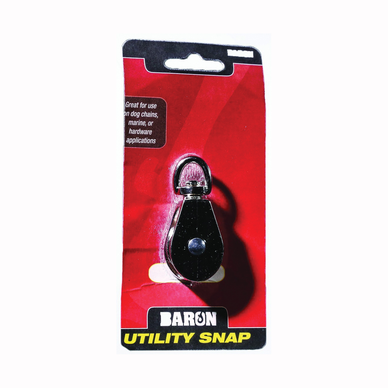 Picture of BARON C-0173ZD-1 Single Rope Pulley, 5/32 in Rope, 1 in Sheave, Cadmium