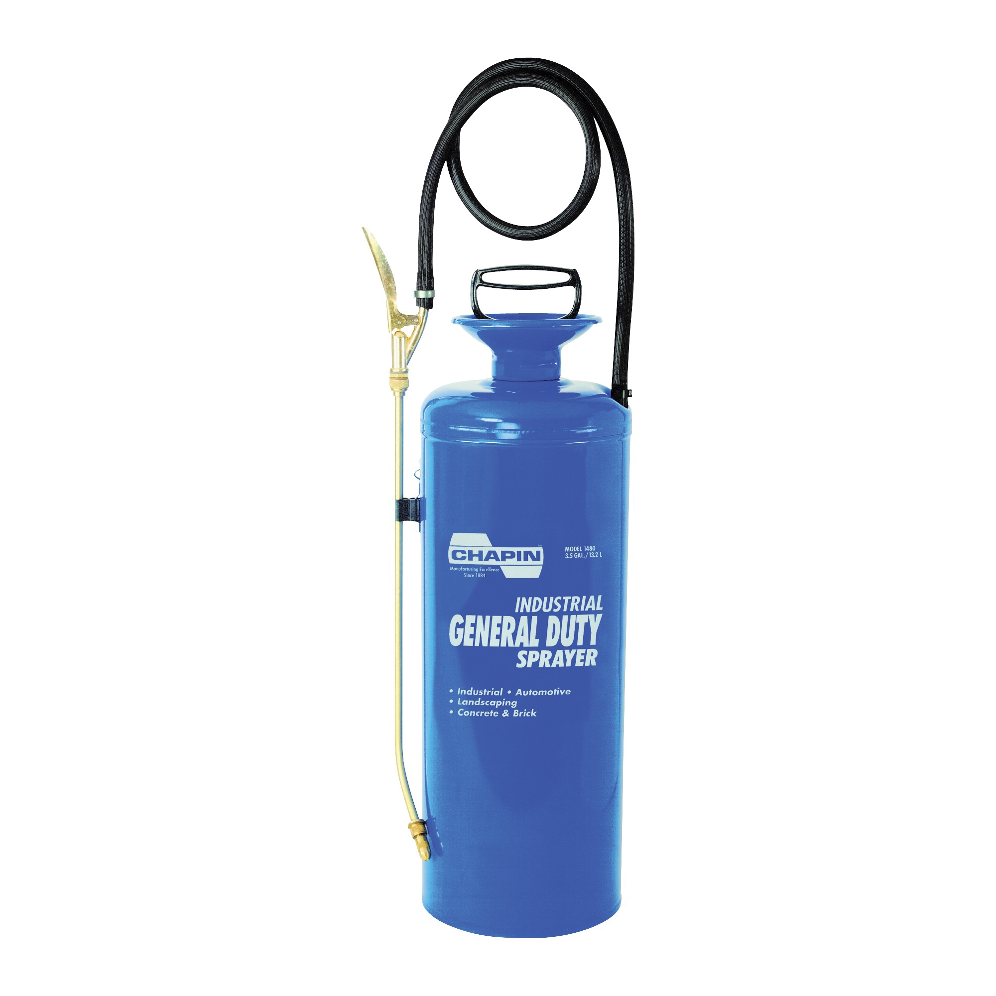 Picture of CHAPIN 1480 Handheld Sprayer, 3 gal Tank, Steel Tank, 42 in L Hose
