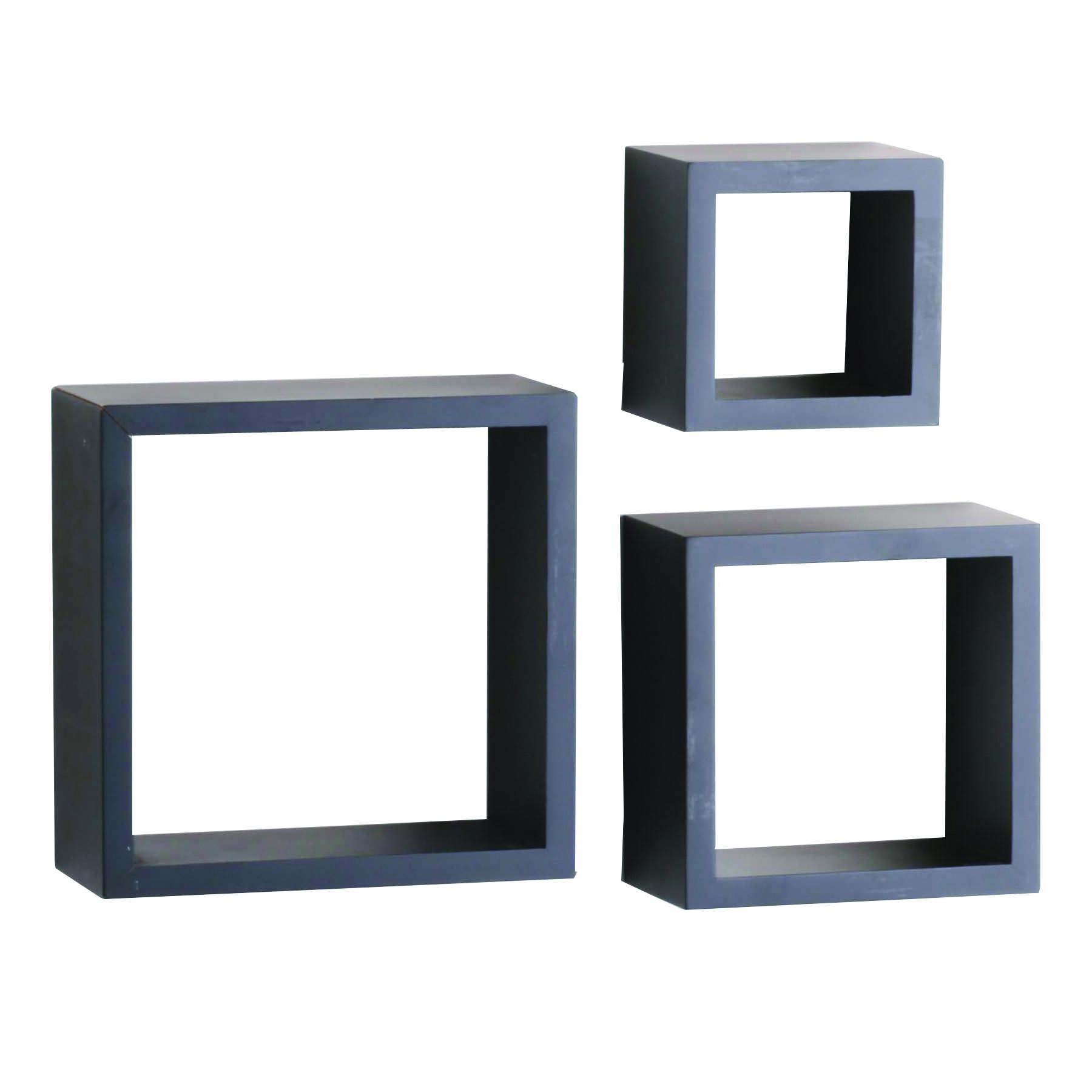 Picture of Knape & Vogt Shelf-Made 240-BK Shadow Box Kit, 50 lb, 3-Shelf, 4 in L, Wood