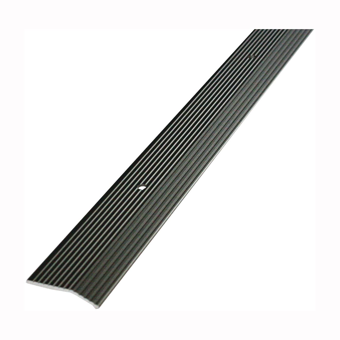 Picture of M-D 43858 Carpet Trim, 36 in L, 2 in W, Fluted Surface, Aluminum, Pewter