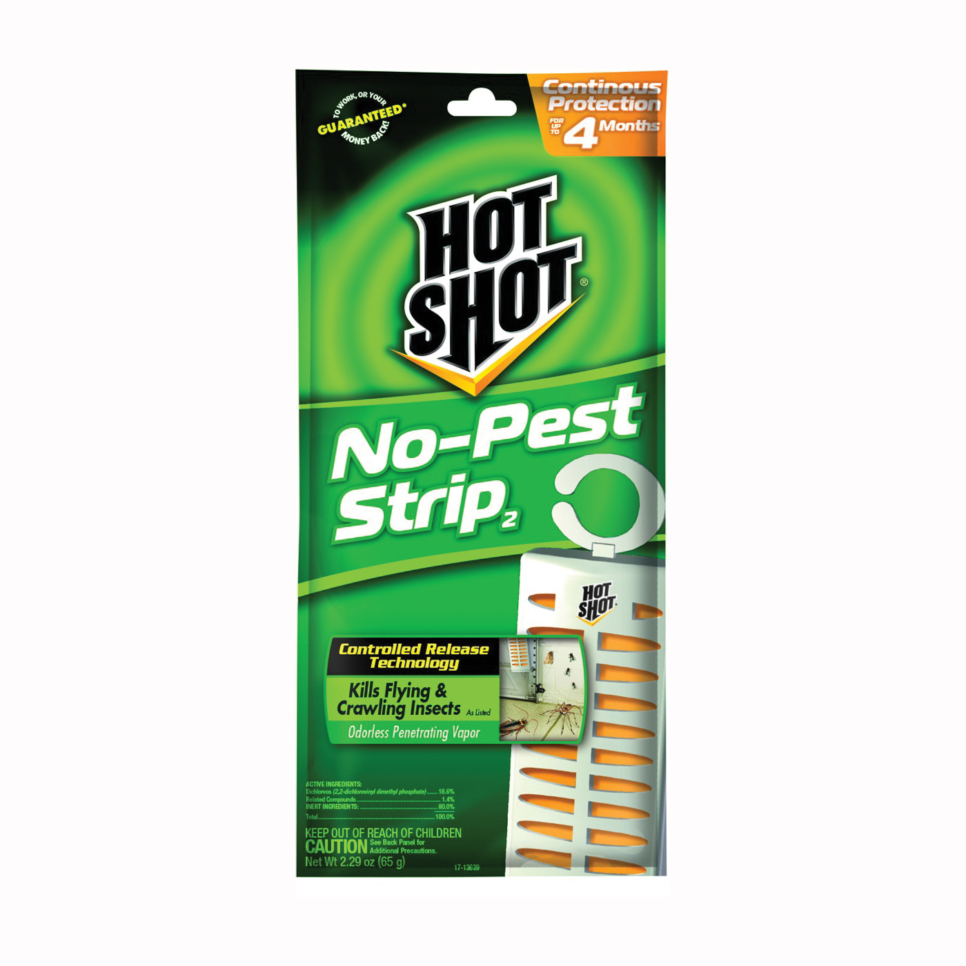 Picture of Hot-Shot 7384167 No-Pest Strip, Solid, 1 Package, Pack