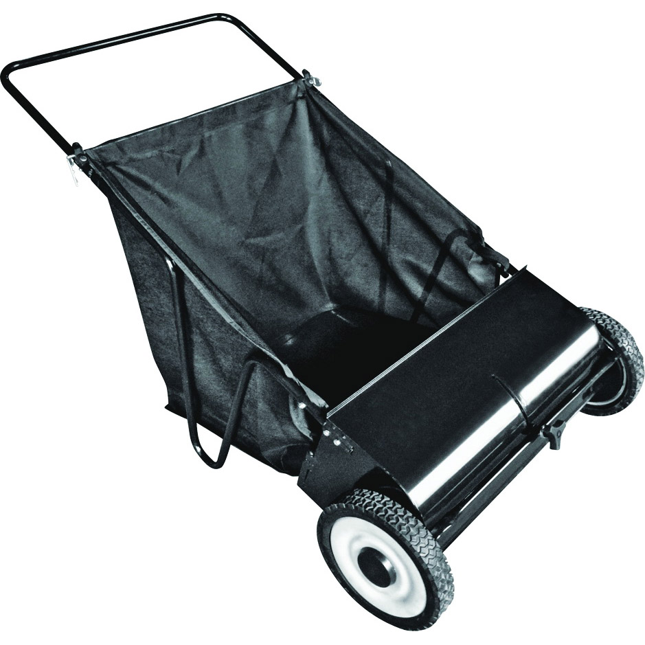 Picture of Vulcan YTL-002-766 Lawn Sweeper, 26 in W Working, 7 cu-ft Hopper, 4.25:1 Brush to Wheel Ratio, 4 -Brush, Black