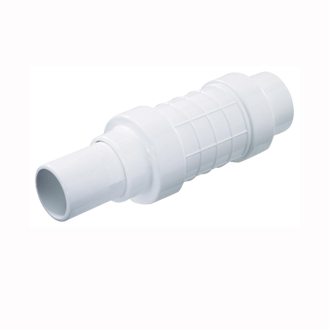 Picture of NDS Quik-Fix QF-0750 Pipe Repair Coupler, 3/4 in, Socket x Spigot, White, SCH 40 Schedule, 150 psi Pressure