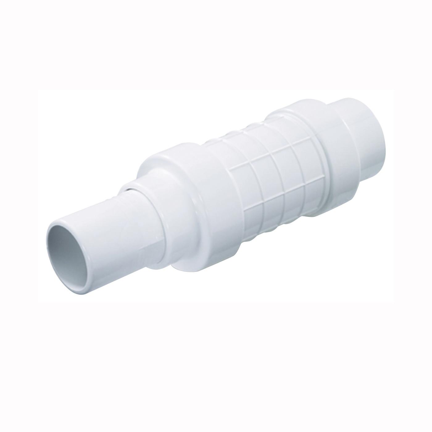 Picture of NDS Quik-Fix QF-1000 Pipe Repair Coupler, 1 in, Socket x Spigot, White, SCH 40 Schedule, 150 psi Pressure