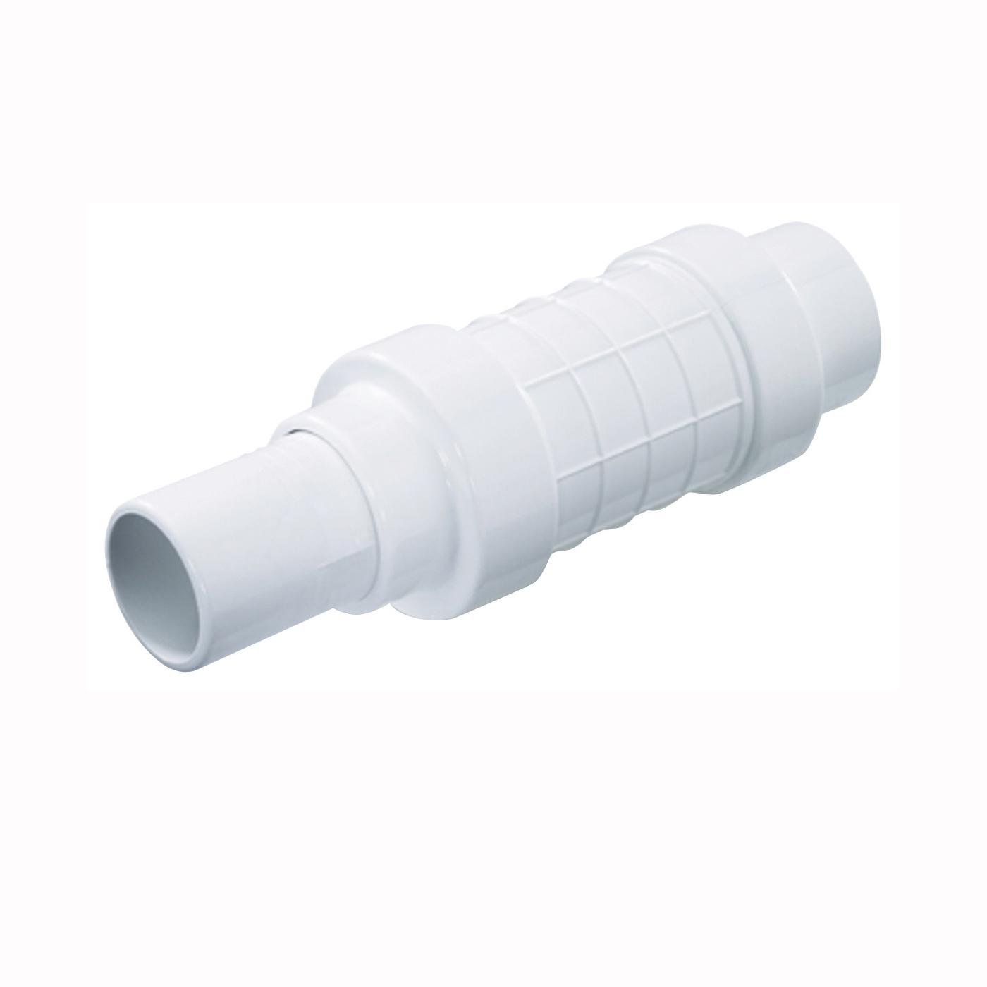 Picture of NDS Quik-Fix QF-2000 Pipe Repair Coupler, 2 in, Socket x Spigot, White, SCH 40 Schedule, 150 psi Pressure