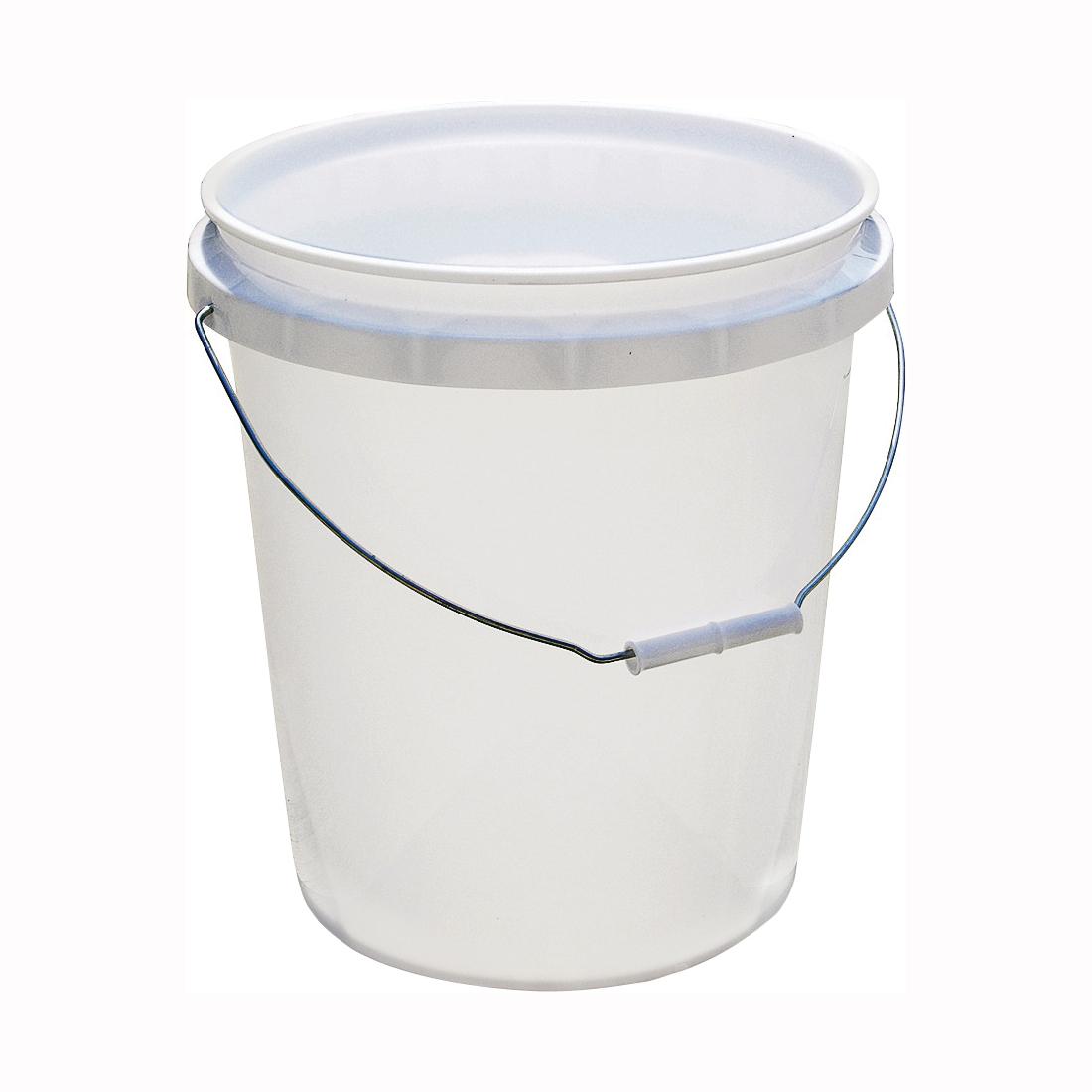 Picture of ENCORE Plastics 50640 Paint Pail, 5 gal Capacity, HDPE, White