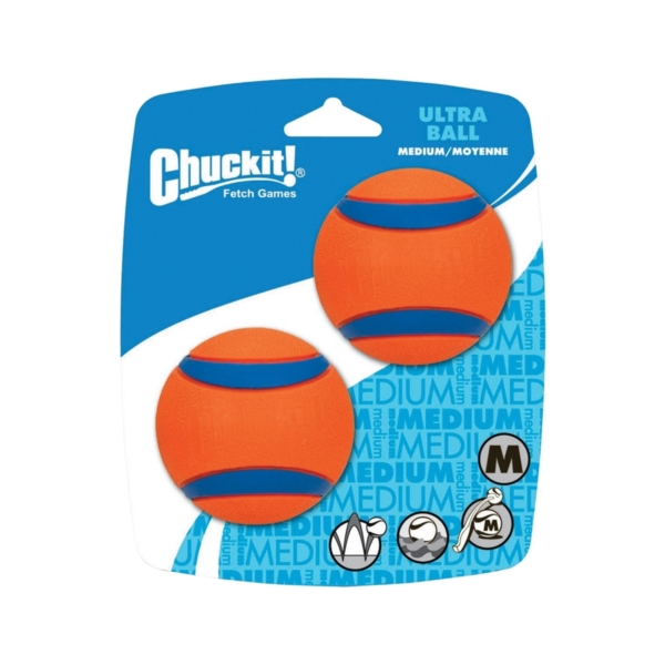 Picture of Chuckit! 17001 Ultra Ball Dog Toy, M, Rubber, Blue/Orange
