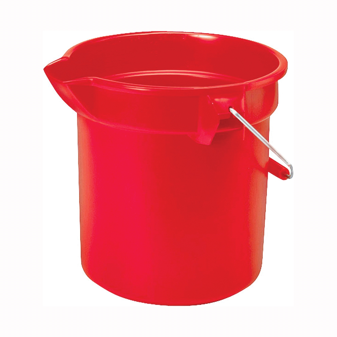 Picture of Rubbermaid Professional Plus 296300RED Bucket, 10 qt Capacity, 10-1/2 in Dia, Plastic, Red