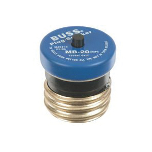 Picture of Bussmann VPKMB-20 Plug Fuse, 20 A, 125 V, 10 kA Interrupt, Plastic Body, Manual Reset Fuse