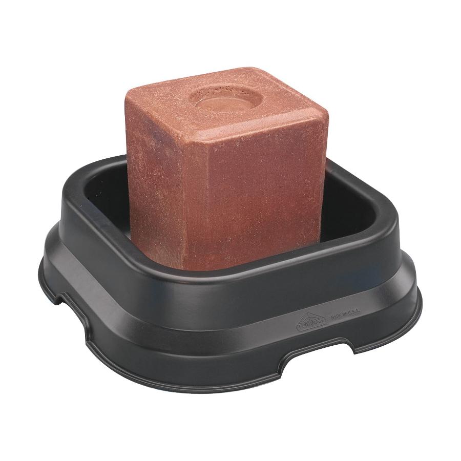 Picture of FORTEX-FORTIFLEX SBP-10 Block Pan, Polyethylene/Rubber, Black