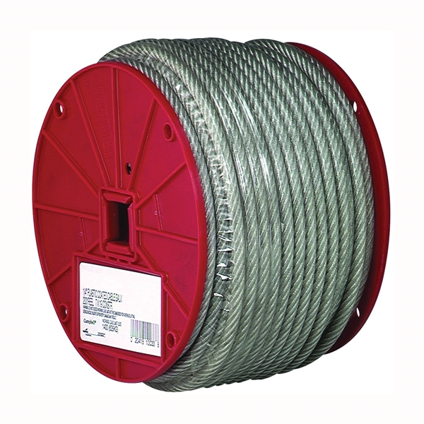 Picture of Campbell 7000497 Aircraft Cable, 1/8 in Dia, 250 ft L, 340 lb Working Load, Steel