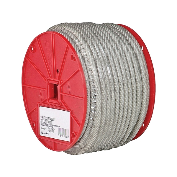Picture of Campbell 7000697 Aircraft Cable, 3/16 in Dia, 250 ft L, 840 lb Working Load, Steel
