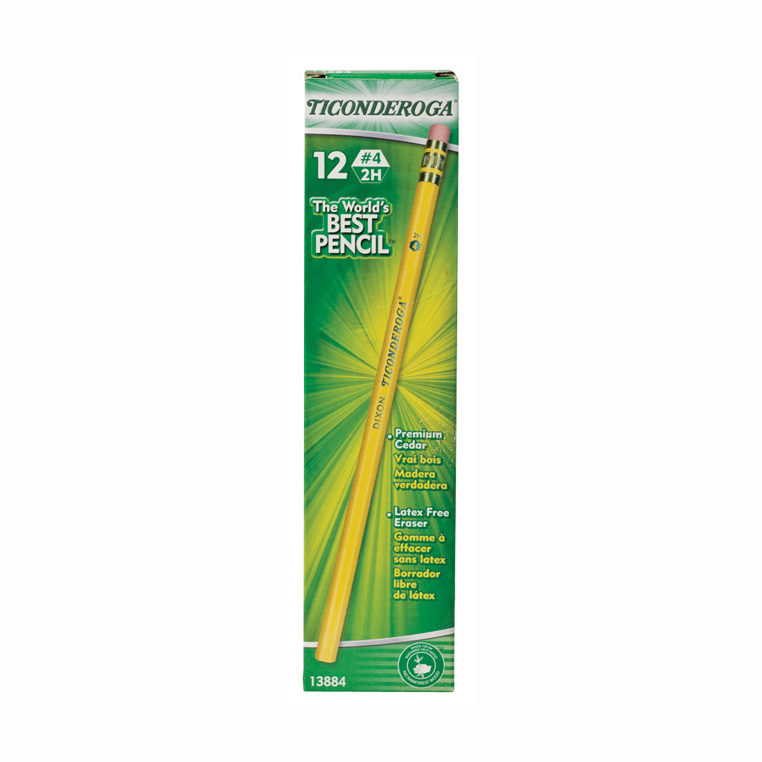 Picture of Ticonderoga 13884 Pencil, Extra Hard Lead, Wood Barrel