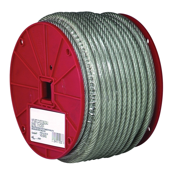 Picture of Campbell 7000397 Aircraft Cable, 3/32 in Dia, 250 ft L, 184 lb Working Load, Steel