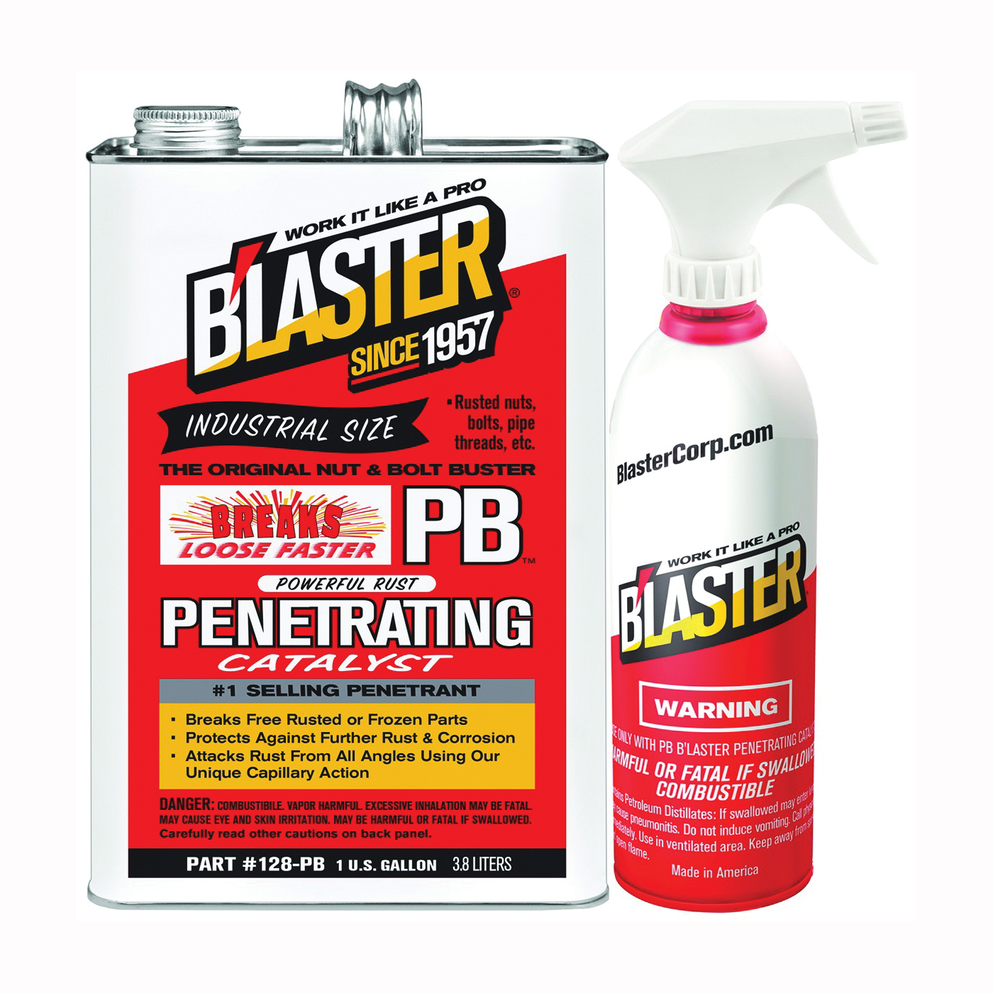 Picture of B'laster 128-PB Penetrant, 1 gal Package, Bottle, Liquid, Heavy Aromatic