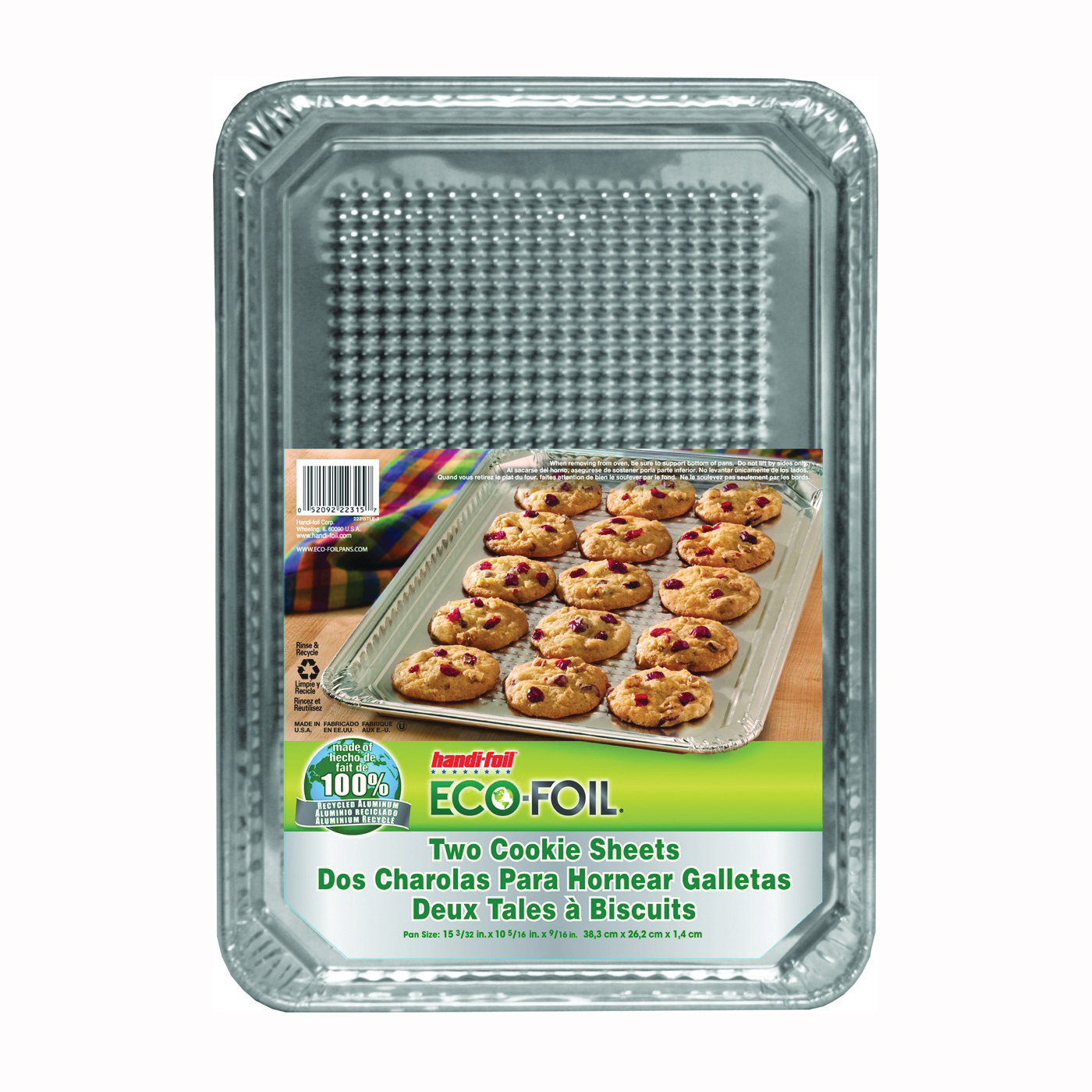 Picture of HANDI-FOIL 22315TL-15 Cookie Sheet, 16-1/2 in L, 11-1/2 in W, Aluminum