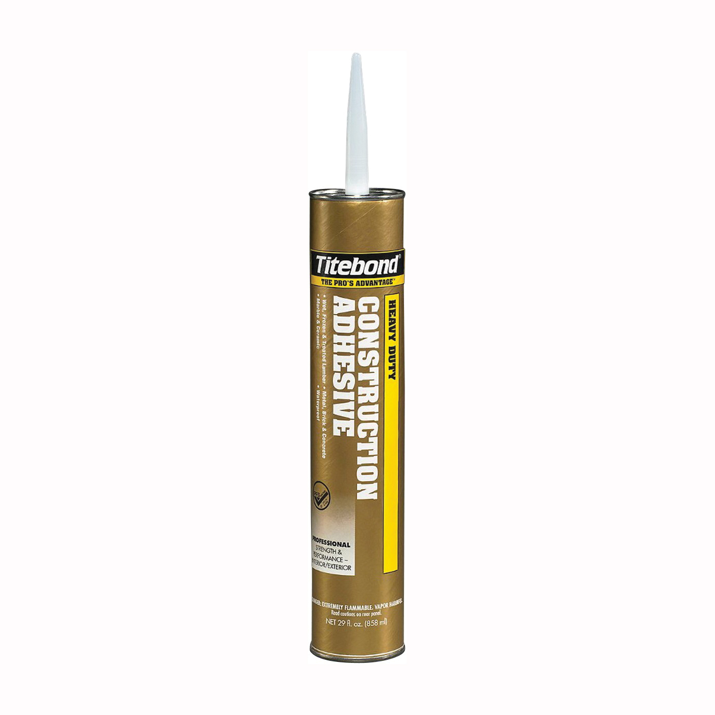 Picture of Titebond 5262 Construction Adhesive, Beige, 28 oz Package, Cartridge