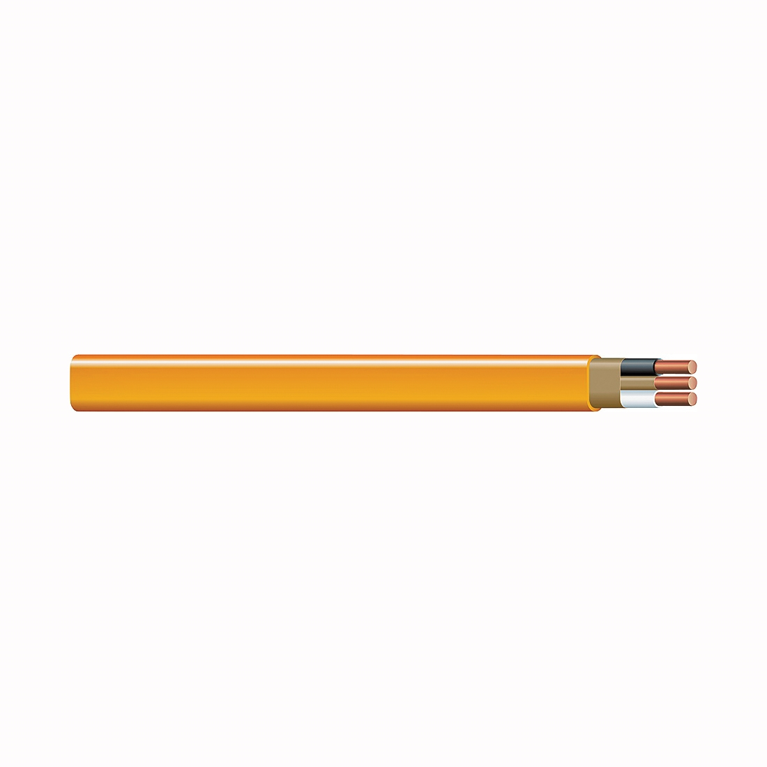 Picture of Southwire 10/2NM-WGX25 Sheathed Cable, 10 AWG Wire, 2-Conductor, Copper Conductor, PVC Insulation, Nylon Sheath