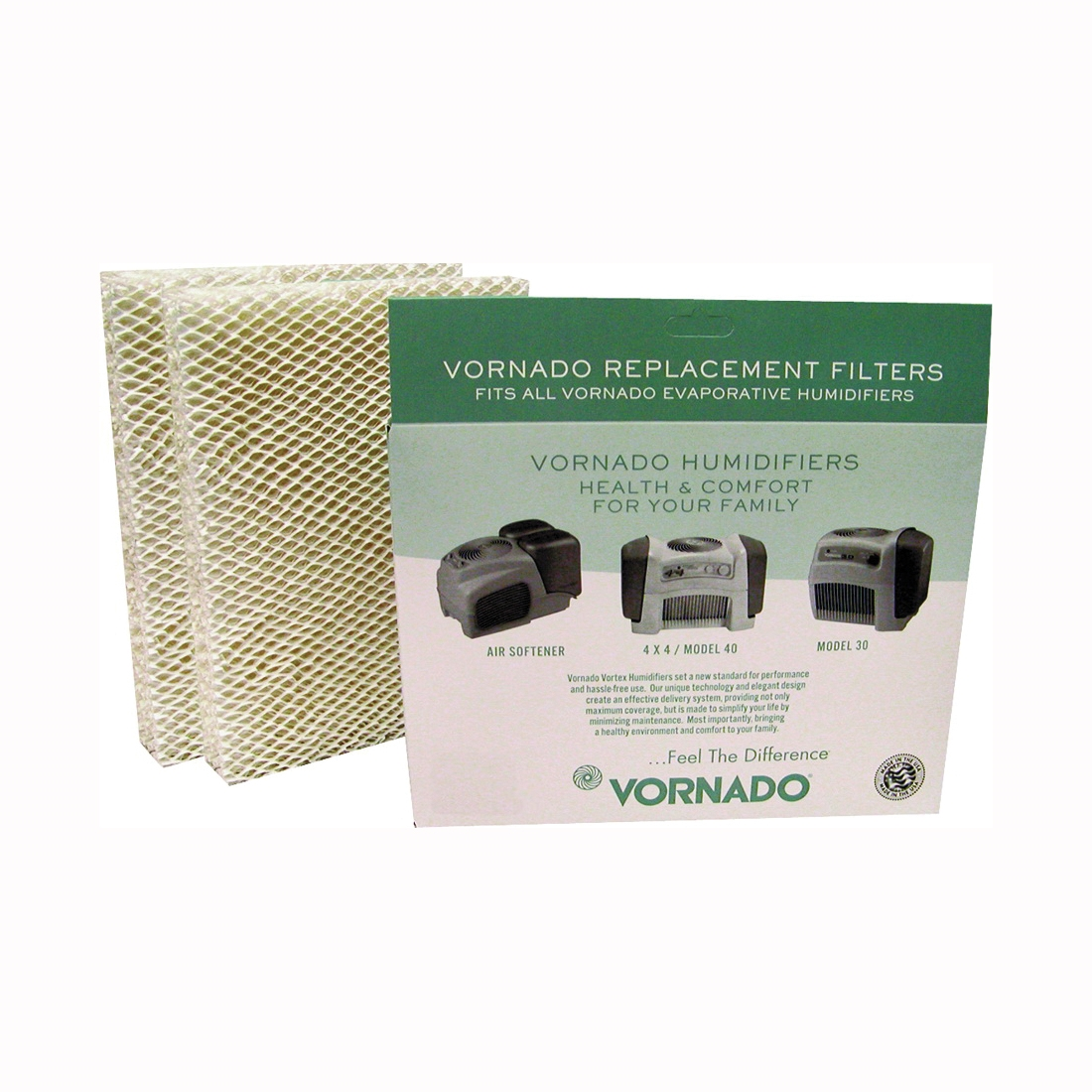 Picture of VORNADO MD1-0002 Wick Filter, 9-1/2 in L, 7-1/4 in W, White, For: Evap3, Evap1, Model 30 and Model 50 Humidifier