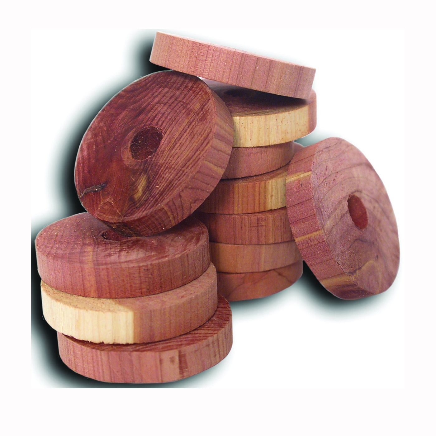 Picture of HOUSEHOLD ESSENTIALS Cedar Fresh 14306 Solid Cedar Ring, Solid, Cedar, Red