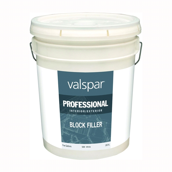 Picture of Valspar 589 Professional Block Filler, White, Liquid, 5 gal Package, Pail
