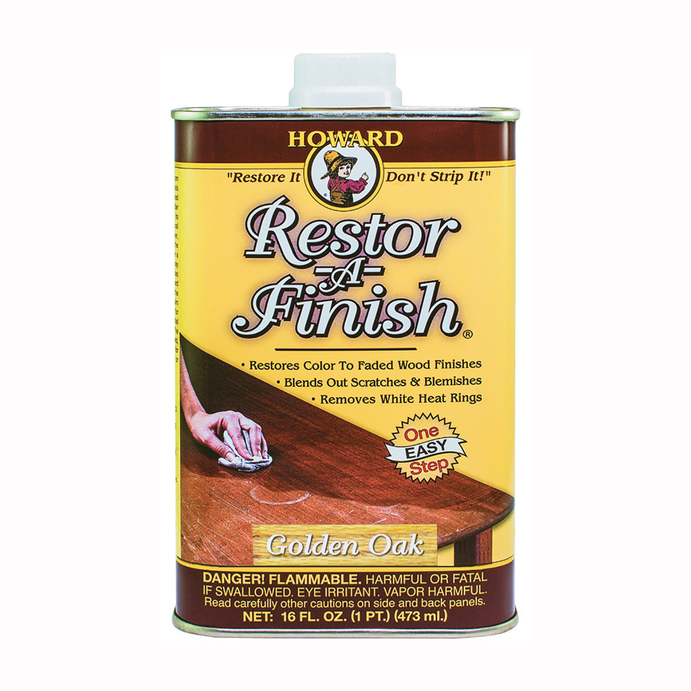 Picture of HOWARD RF3016 Wood Restorer, Golden Oak, Liquid, 16 oz, Can