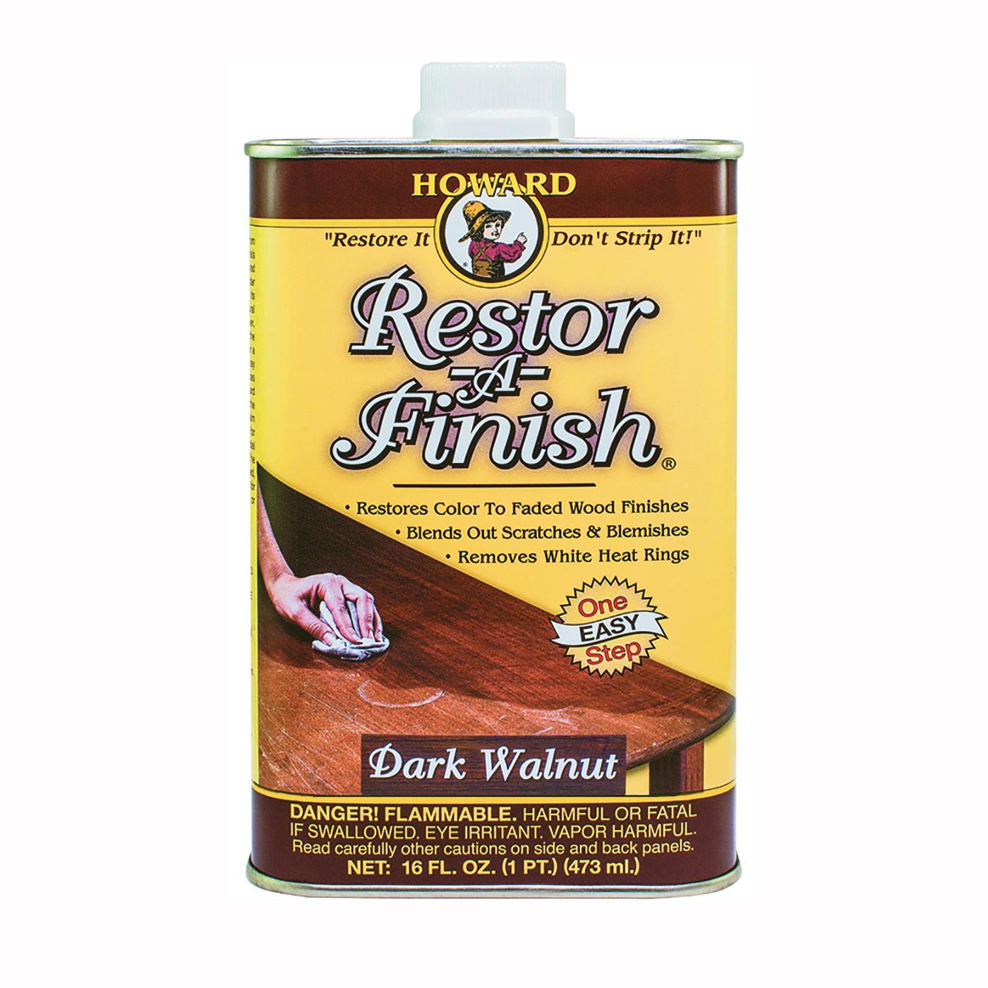 Picture of HOWARD RF6016 Wood Restorer, Dark Walnut, Liquid, 16 oz, Can