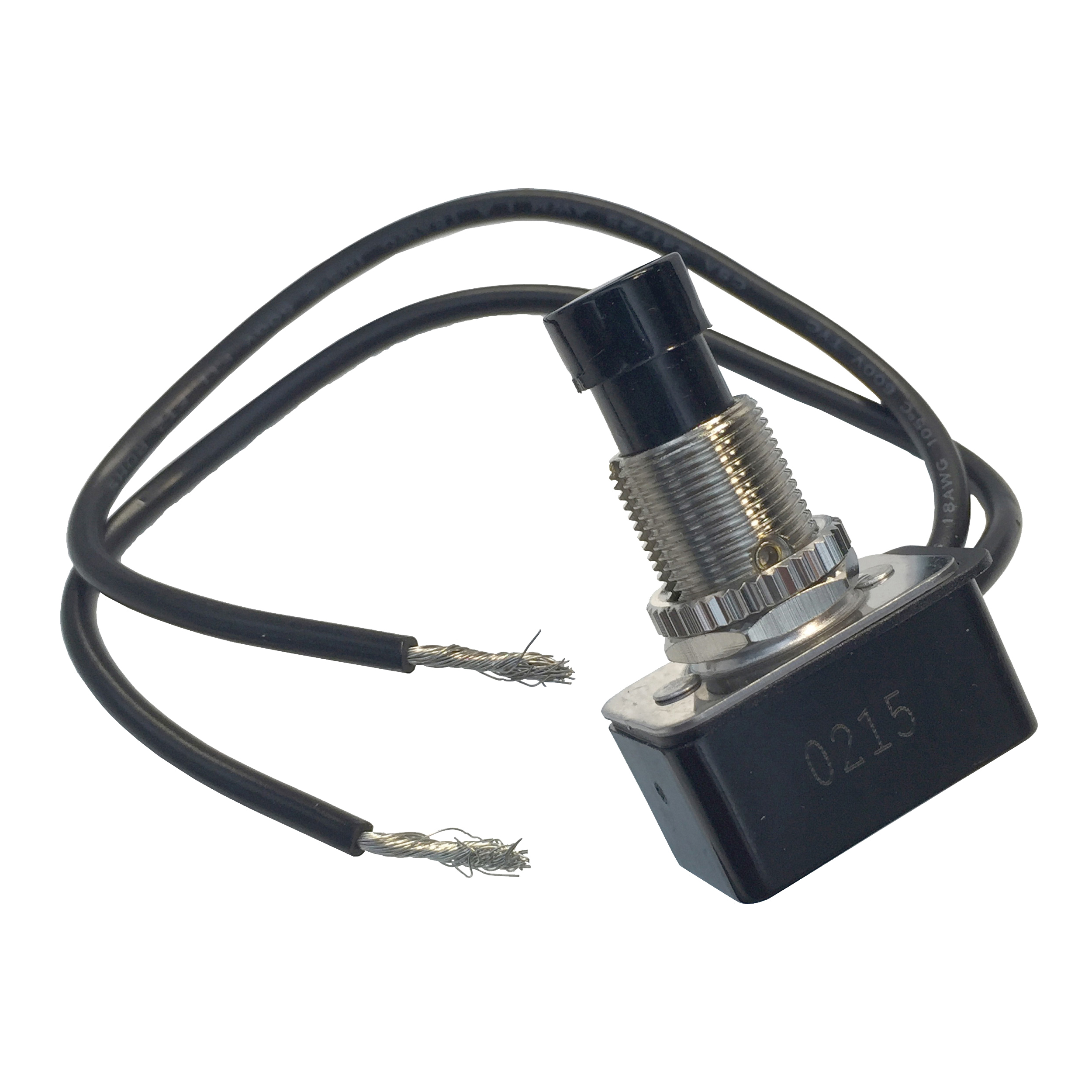 Picture of GB GSW-21 Push-Button Switch, 4/8/10 A, 125/250 V, SPST, Lead Wire Terminal, Plastic Housing Material, Chrome
