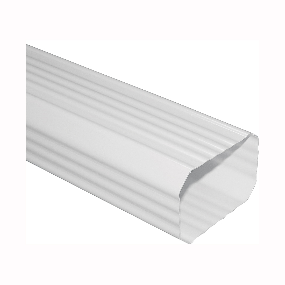 Picture of GENOVA AW200 Downspout, 2 in W, 3 in H, 10 ft L, Aluminum, White