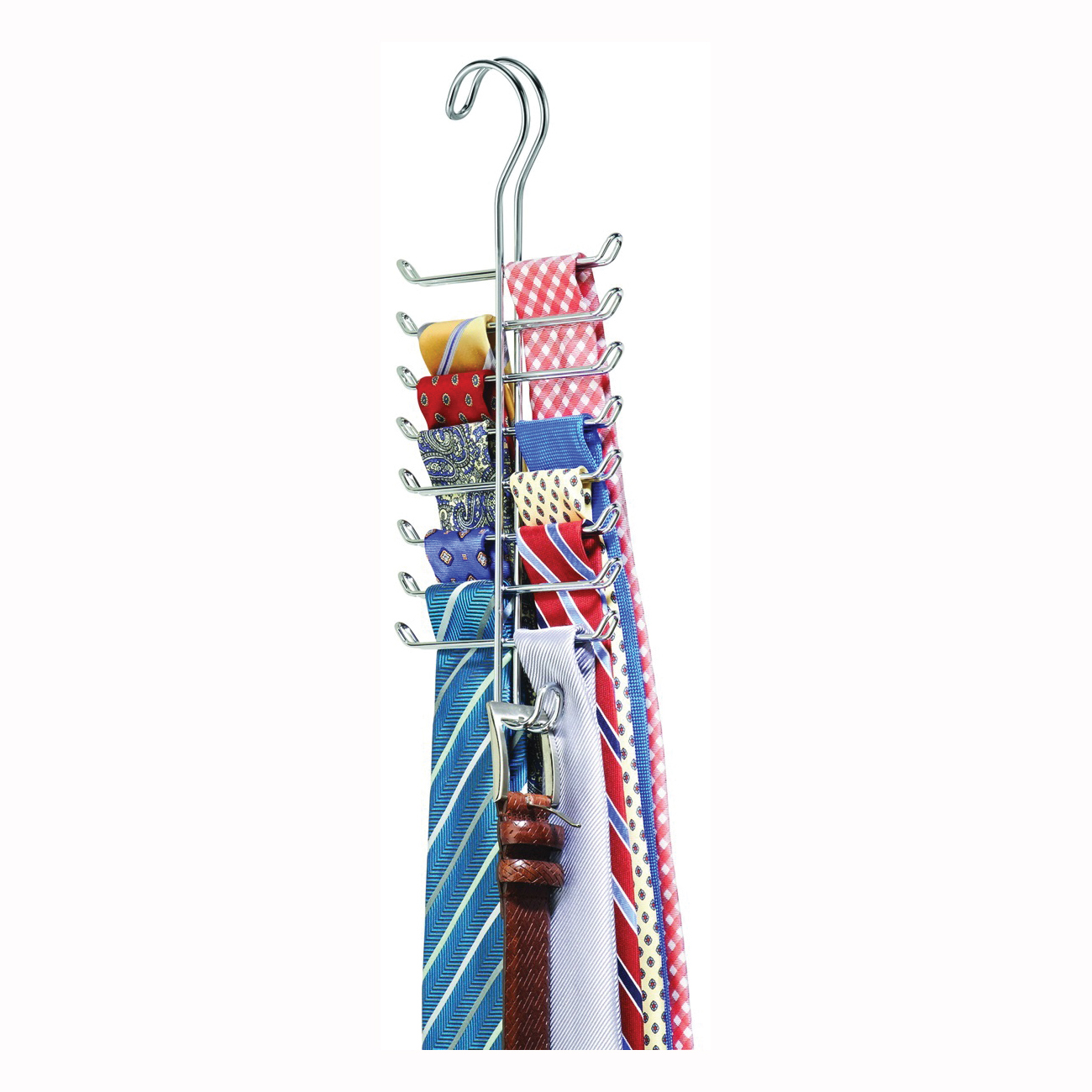 Picture of iDESIGN Classico 06560 Tie and Belt Rack, 16-Hook, 5.3 in OAW, Steel