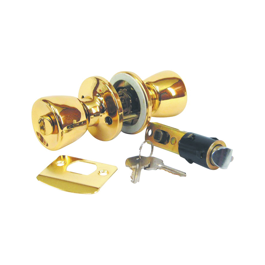 Picture of US Hardware D-099B Entrance Lockset, Brass, Brass