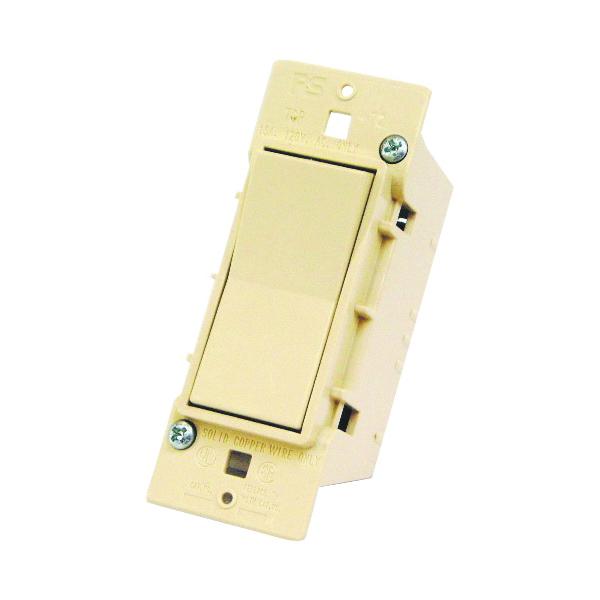 Picture of US Hardware E-100C Rocker Switch, 125 V, 15 A, 1 -Pole, Ivory