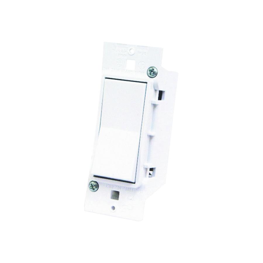 Picture of US Hardware E-119C Rocker Switch, 125 V, 15 A, 1 -Pole, White