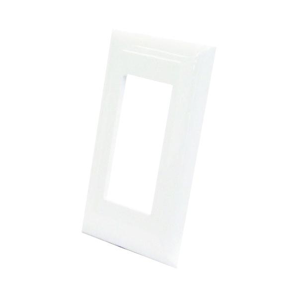 Picture of US Hardware E-122C Wallplate, Plastic, White