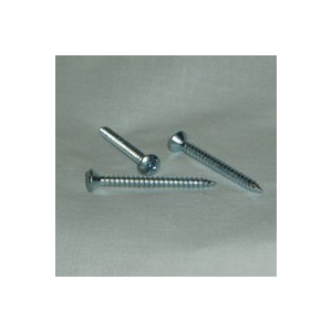Picture of US Hardware S-938D Rosette Screw, 1-9/16 in L, Steel, Zinc, 100, Bag