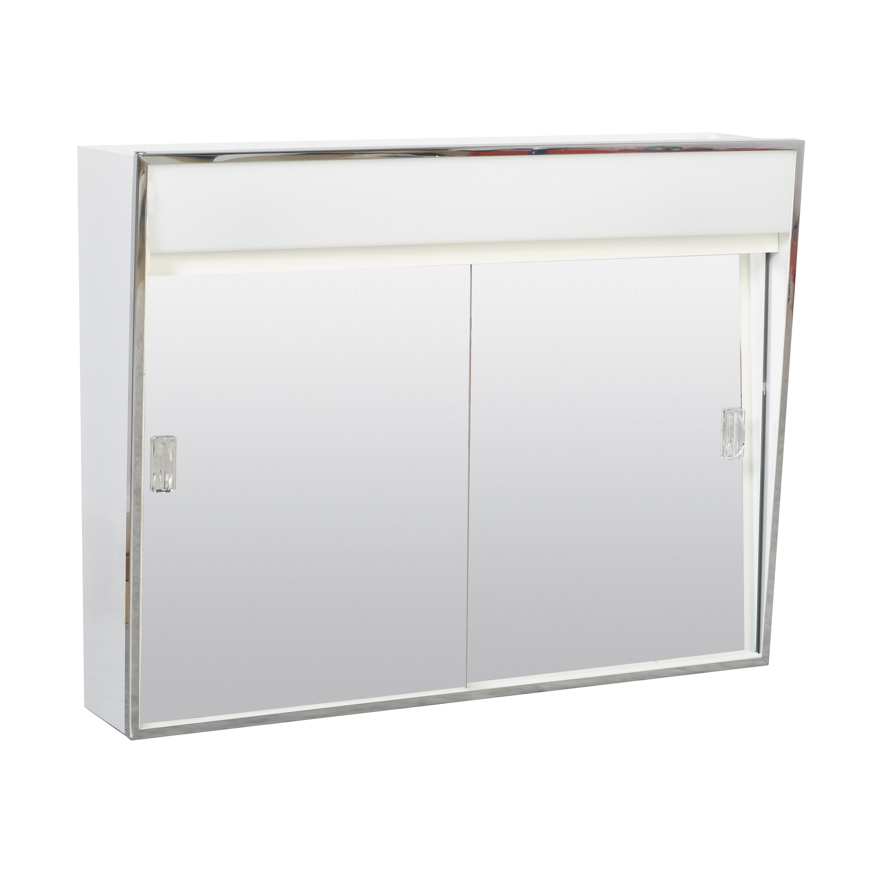 Picture of Zenith 701L Medicine Cabinet with Incandescent Light, 23-3/8 in OAW, 5-1/2 in OAD, 18-1/8 in OAH, Steel, White