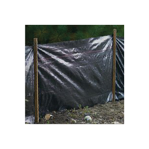 Picture of MUTUAL INDUSTRIES 14987 Silt Fence, 100 ft L, 36 in W, 1-1/2 x 1-1/2 in Mesh, Fabric, Black