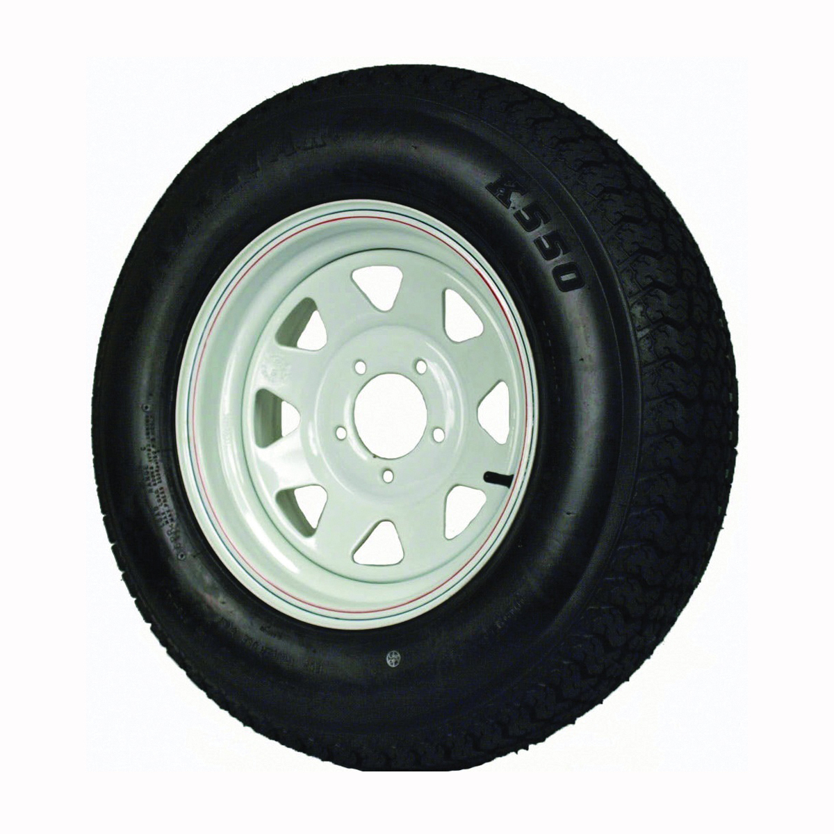Picture of MARTIN WHEEL DM205D4C-5CT/CI Trailer Tire, 1760 lb Withstand, 4-1/2 in Dia Bolt Circle