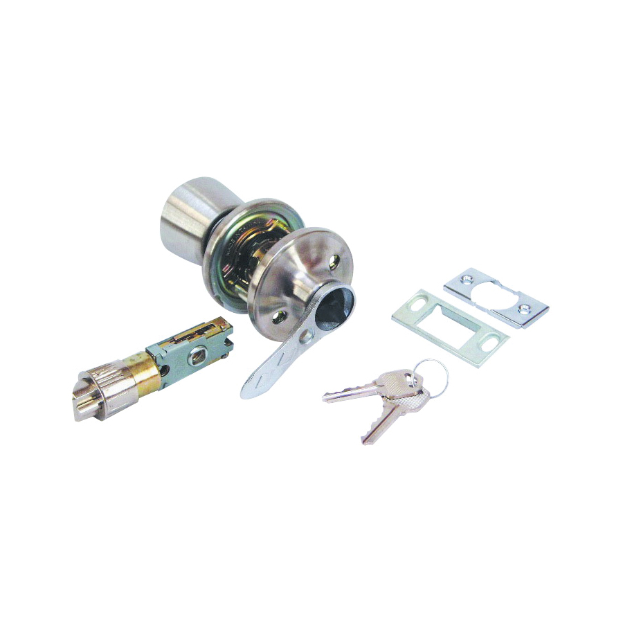Picture of US Hardware RV-112B Entrance Lockset, Stainless Steel, Brushed Stainless Steel, 1, Bag