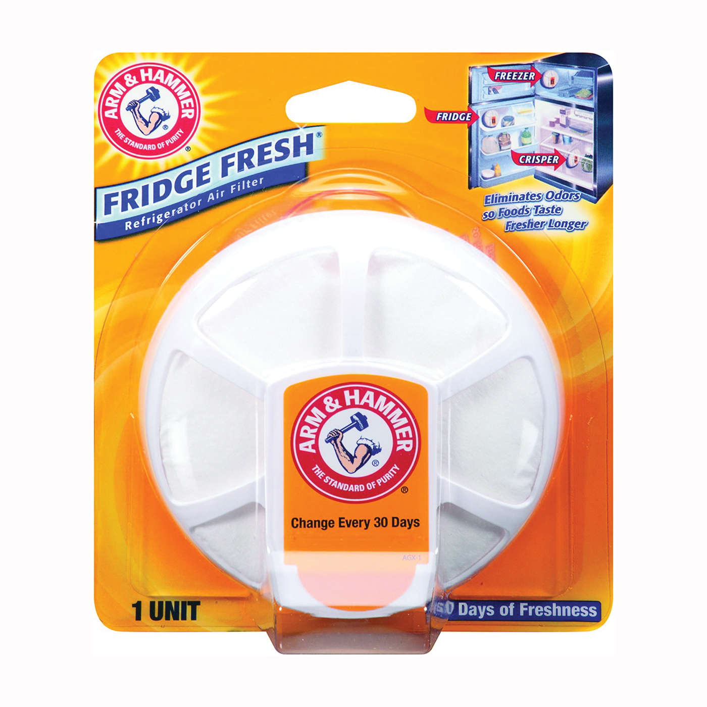 Picture of ARM & HAMMER 1710 Refrigerator Air Filter White, 5.5 oz Package, White